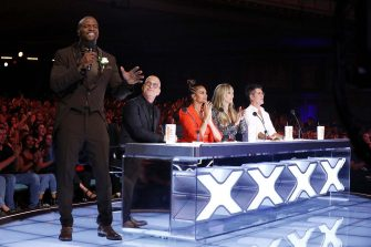 """AMERICA'S GOT TALENT: THE CHAMPIONS -- """"The Champions Finale Results"""" Episode 207 -- Pictured: (l-r) Terry Crews, Howie Mandel, Alesha Dixon, Heidi Klum, Simon Cowell -- (Photo by: Trae Patton/NBC)"""