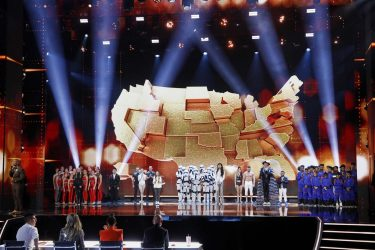 """AMERICA'S GOT TALENT: THE CHAMPIONS -- """"The Champions Finale Results"""" Episode 207 -- Pictured: (l-r) Terry Crews, Silhouettes, Marcelito Pomoy, Sandou Trio Russian Bar, Alexa Lauenburger, Boogie Storm, Angelina Jordan, Duo Transcend, Hans, Tyler Butler Figueroa, V.Unbeatable -- (Photo by: Trae Patton/NBC)"""