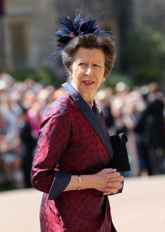 WINDSOR, UNITED KINGDOM - MAY 19:  Princess Anne, Princess Royal arrives at St George's Chapel at Windsor Castle before the wedding of Prince Harry to Meghan Markle on May 19, 2018 in Windsor, England. (Photo by Gareth Fuller - WPA Pool/Getty Images)