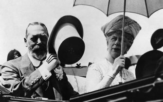 C13GR4 British Royal Family. British King George V and British Queen Mary of Teck, 1934.