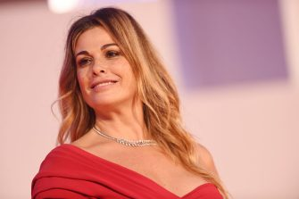 """VENICE, ITALY - SEPTEMBER 06:  Vanessa Incontrada walks the red carpet ahead of the movie """"The World To Come"""" at the 77th Venice Film Festival on September 06, 2020 in Venice, Italy. (Photo by Stefania D'Alessandro/WireImage,)"""