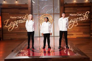 """MASTERCHEF: L-R: Previous contestants Sarah, Dorian and Nick in the """"Emeril Lagasse Auditions Rd. 1"""" season premiere episode of MASTERCHEF airing Wednesday, June 2 (8:00-9:00 PM ET/PT) on FOX. © 2019 FOX MEDIA LLC. CR: FOX."""