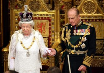 LONDON, ENGLAND - NOVEMBER 6: (NO PUBLICATION IN UK MEDIA FOR 28 DAYS) Queen Elizabeth II and Prince Philip, Duke of Edinburgh attend the State Opening of Parliament at the House of Lords, Westminster on November 6, 2007 in London, England. (Photo by Pool/Tim Graham Picture Library/Getty Images)