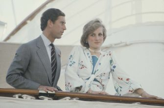 Prince Charles and Diana, Princess of Wales on board the Royal Yacht Britannia in Gibraltar, at the start of their honeymoon cruise, August 1981. She is wearing a floral silk dress by Donald Campbell. (Photo by Jayne Fincher/Princess Diana Archive/Getty Images)