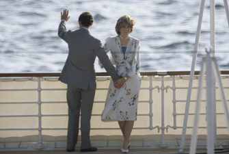 The Prince and Princess of Wales leave Gibraltar on the Royal Yacht Britannia for their honeymoon cruise, 31st July 1981. The Princess wears a Donald Campbell dress. (Photo by Terry Fincher/Princess Diana Archive/Getty Images)