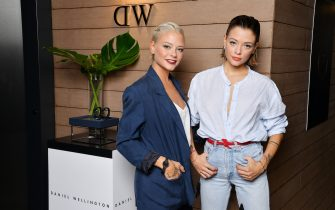 attends #DWMilan cocktail party  at Hotel la Gare on September 23, 2017 in Milan, Italy.