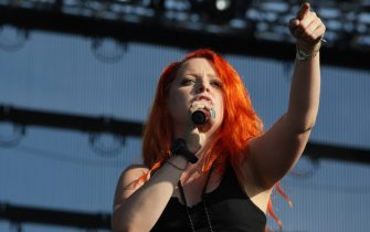 Italian singer Noemi performs on stage during the third day of Heineken Jammin Festival at Parco San Giuliano on June 11, 2011 in Mestre, Italy. (Photo by Barbara Zanon/WireImage)