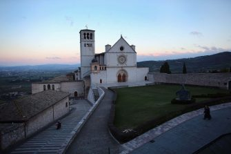 ASSISI, ITALY - MARCH 15:  The Basilica of St. Francis of Assisi which sits above the tomb of Saint Assisi is seen on March 15, 2013 in Assisi, Italy. Cardinal Jorge Mario Begoglio took the name Pope Francis after Saint Francis of Assisi who had renounced a life of privilege, by giving away all his possessions, wearing coarse woolen clothes and living in a humble hut after he took a vow of poverty.  (Photo by Joe Raedle/Getty Images)