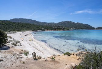 PORTO CERVO, ITALY - MAY 23: A small amount of people take to the beach on May 23, 2020 in Porto Cervo, Sardinia, Italy. After more than two months of Lockdown due to Covid-19, Governor Christian Solinas has now allowed people to go to the beach again. Restaurants, bars, cafes, hairdressers and other shops have reopened, subject to social distancing measures, after more than two months of a nationwide lockdown meant to curb the spread of Covid-19. (Photo by Emanuele Perrone/Getty Images)
