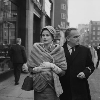 Princess Grace (formerly Grace Kelly) and Prince Rainier of Monaco shopping in London's West End, 4th December 1959. (Photo by Victor Blackman/Express/Hulton Archive/Getty Images)