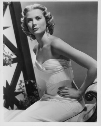 Portrait of actress Grace Kelly wearing a white dress, circa 1950-1960. (Photo by Archive Photos/Getty Images)
