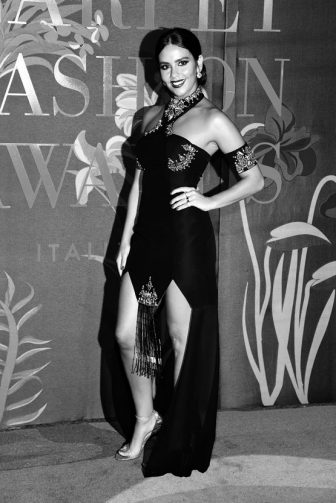 MILAN, ITALY - SEPTEMBER 22: (EDITORS NOTE: This image has been converted in black and white) Cristina Pedroche Navas attends the Green Carpet Fashion Awards during the Milan Fashion Week Spring/Summer 2020 on September 22, 2019 in Milan, Italy. (Photo by Stefania D'Alessandro/Getty Images)