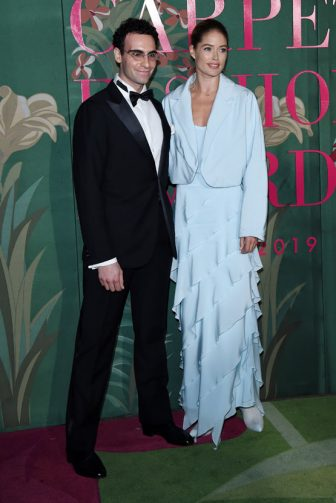 MILAN, ITALY - SEPTEMBER 22:  Elia Maramotti and Doutzen Kroes attend the Green Carpet Fashion Awards during the Milan Fashion Week Spring/Summer 2020 on September 22, 2019 in Milan, Italy. (Photo by Stefania D'Alessandro/Getty Images)