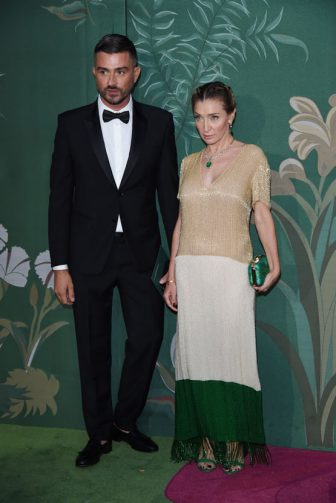 MILAN, ITALY - SEPTEMBER 22:   Filippo Zagagnoni and Elisabetta Franchi attend the Green Carpet Fashion Awards during the Milan Fashion Week Spring/Summer 2020 on September 22, 2019 in Milan, Italy. (Photo by Stefania D'Alessandro/Getty Images)