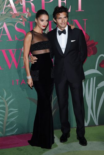 MILAN, ITALY - SEPTEMBER 22:  Gabrielle Caunesil and Riccardo Pozzoli attend the Green Carpet Fashion Awards during the Milan Fashion Week Spring/Summer 2020 on September 22, 2019 in Milan, Italy. (Photo by Stefania D'Alessandro/Getty Images)