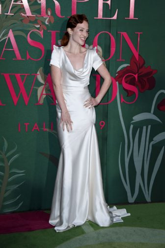MILAN, ITALY - SEPTEMBER 22:  Jess Glynne attends the Green Carpet Fashion Awards during the Milan Fashion Week Spring/Summer 2020 on September 22, 2019 in Milan, Italy. (Photo by Stefania D'Alessandro/Getty Images)