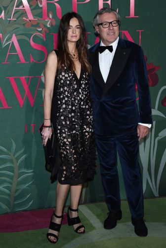 MILAN, ITALY - SEPTEMBER 22: Kasia Smutniak and Carlo Beretta attend the Green Carpet Fashion Awards during the Milan Fashion Week Spring/Summer 2020 on September 22, 2019 in Milan, Italy. (Photo by Stefania D'Alessandro/Getty Images)