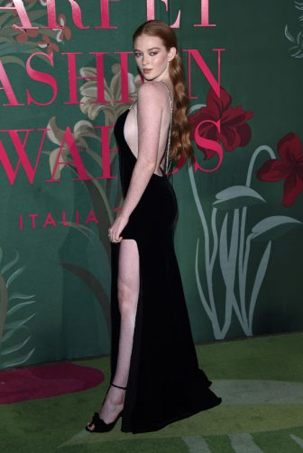 MILAN, ITALY - SEPTEMBER 22:  Larsen Thompson attends the Green Carpet Fashion Awards during the Milan Fashion Week Spring/Summer 2020 on September 22, 2019 in Milan, Italy. (Photo by Stefania D'Alessandro/Getty Images)
