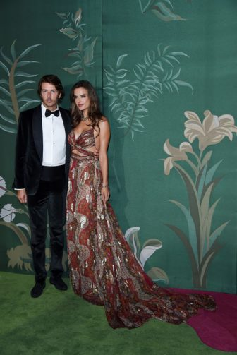 MILAN, ITALY - SEPTEMBER 22: Nicolo Oddi and Alessandra Ambrosio attend the Green Carpet Fashion Awards during the Milan Fashion Week Spring/Summer 2020 on September 22, 2019 in Milan, Italy. (Photo by Stefania D'Alessandro/Getty Images)