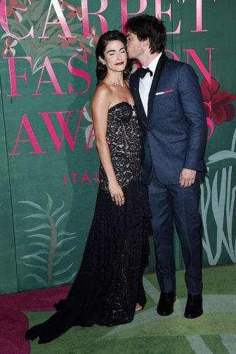 MILAN, ITALY - SEPTEMBER 22:  Nikki Reed and Ian Somerhalder attend the Green Carpet Fashion Awards during the Milan Fashion Week Spring/Summer 2020 on September 22, 2019 in Milan, Italy. (Photo by Stefania D'Alessandro/Getty Images)