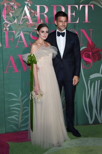 MILAN, ITALY - SEPTEMBER 22: Olivia Palermo and Johannes Huebl attend the Green Carpet Fashion Awards during the Milan Fashion Week Spring/Summer 2020 on September 22, 2019 in Milan, Italy. (Photo by Stefania D'Alessandro/Getty Images)