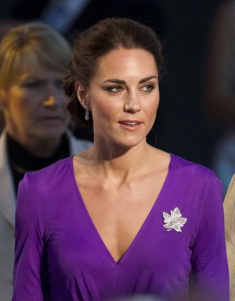 Kate, the Duchess of Cambridge at a Canada Day celebration on Parliament Hill in Ottawa, Canada, Friday, July 1, 2011. (AP Photo/Charlie Riedel)