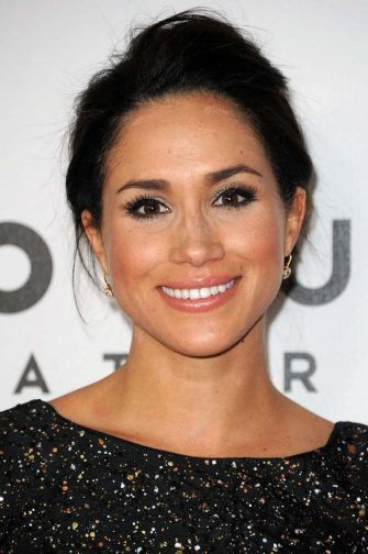 Meghan Markle attends the NBC Golden Globe After Party at the Beverly Hilton Hotel on Sunday, Jan. 13, 2013, in Beverly Hills, Calif.  (Photo by Richard Shotwell/Invision/AP)