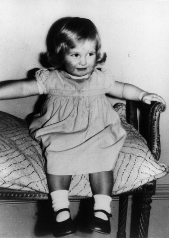 1st July 1963:  Lady Diana Frances Spencer (1961 - 1997), later Princess of Wales, aged 2, at Park House, Sandringham, Norfolk.  (Photo by Keystone/Getty Images)