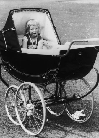 A young Lady Diana Spencer in her pram at Park House, Sandringham in Norfolk, 1963. (Photo by Central Press/Hulton Archive/Getty Images)
