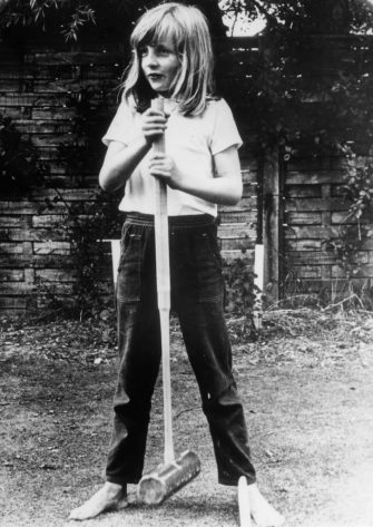 1970:  Lady Diana Spencer (1961 - 1997) holding a croquet mallet during a game at Itchenor, West Sussex.  (Photo by Central Press/Getty Images)