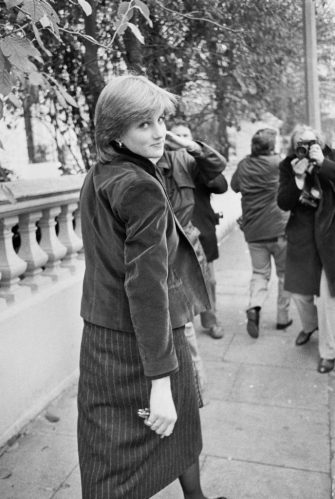 Nineteen year-old Lady Diana Spencer (1961 - 1997, later Diana, Princess of Wales), fiancee to the Prince of Wales, in London, UK, 12th November 1980. (Photo by John Minihan/Evening Standard/Hulton Archive/Getty Images)