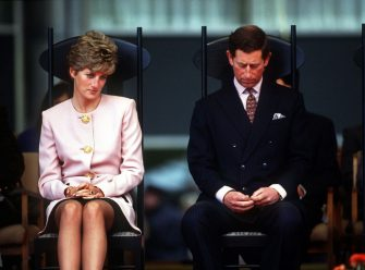 The Prince and Princess of Wales attend a welcome ceremony in Toronto at the beginning of their Canadian tour, October 1991. (Photo by Jayne Fincher/Princess Diana Archive/Getty Images)