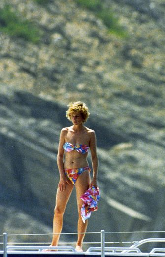 FRANCE - UNDATED:  Princess Diana, Princess of Wales poses in a bikini whilst on holiday in the South of France.  (Photo by Anwar Hussein/WireImage)
