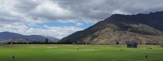 QUEENSTOWN, NEW ZEALAND - JANUARY 13: A general view of the Queenstown Events Centre during the ICC Cricket World Cup Qualifier match between Scotland and Hong Kong on January 13, 2014 in Queenstown, New Zealand. (Photo by Teaukura Moetaua-ICC/ICC via Getty Images)