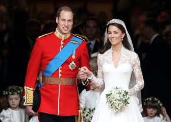 LONDON, ENGLAND - APRIL 29:  TRH Prince William, Duke of Cambridge and Catherine, Duchess of Cambridge smile following their marriage at Westminster Abbey on April 29, 2011 in London, England. The marriage of the second in line to the British throne was led by the Archbishop of Canterbury and was attended by 1900 guests, including foreign Royal family members and heads of state. Thousands of well-wishers from around the world have also flocked to London to witness the spectacle and pageantry of the Royal Wedding.  (Photo by Chris Jackson/Getty Images)