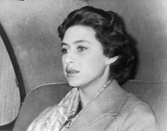 17th October 1955:  A troubled Princess Margaret (1930 - 2002) returns to Clarence House after a weekend in the country where Group Captain Peter Townsend was also a guest.  The decision not to marry Townsend was announced 31st October 1955.  (Photo by Derek Berwin/Fox Photos/Getty Images)
