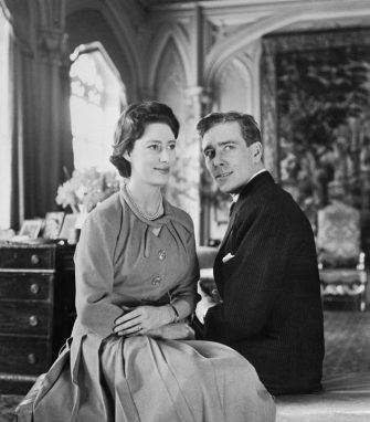 (Original Caption) This photo released on February 29th, shows Britain's Princess Margaret and her fiance, Anthony Armstrong Jones, both 29, at Windsor, where their engagement was announced on February 26th. Armstrong-Jones was moved out of his bachelor apartment to take up residence in Buckingham Palace.