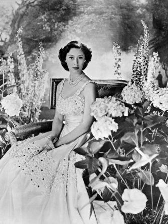 LONDON, UNITED KINGDOM:  Picture taken probably in 1940s in London of Princess Margaret, the youngest sister of future Britain's Queen Elizabeth II. Princess Margaret married in May 1960 the photographer Antony Armstrong-Jones who was later created Earl of Snowdon. Princess Margaret and her husband had two children, son Linley, and daughter Sarah, but announced their separation in March 1976. When the marriage was officially ended two years later, Margaret became the first royal to divorce since Henry VIII in the 16th century. (Photo credit should read AFP via Getty Images)