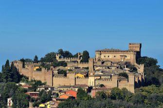 Gradara Castle. Marche. Italy. (Photo by: Claudio Ciabochi/Education Images/Universal Images Group via Getty Images)