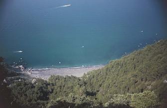 ITALY - CIRCA 2016: Punta Corvo beach, Montemarcello-Magra regional nature park, La Spezia, Liguria, Italy. (Photo by DeAgostini/Getty Images)