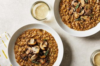 WASHINGTON, DC - FEBRUARY 05 :  Weeknight Veg -Porcini Risotto. Photographed for Voraciously at The Washington Post via Getty Images in Washington DC. (Tom McCorkle for The Washington Post via Getty Images; food styling by Lisa Cherkasky for The Washington Post via Getty Images)