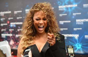 US model Tyra Banks arrives for the 8th annual Breakthrough Prize awards ceremony at NASA Ames Research Center in Mountain View, California on November 3, 2019. (Photo by JOSH EDELSON / AFP) (Photo by JOSH EDELSON/AFP via Getty Images)