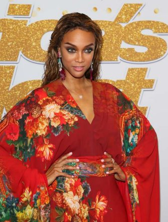 """HOLLYWOOD, CA - SEPTEMBER 11: Tyra Banks attends """"America's Got Talent"""" Season 13 Live Show Red Carpet on September 11, 2018 in Los Angeles, California. (Photo by JB Lacroix/GettyImages)"""