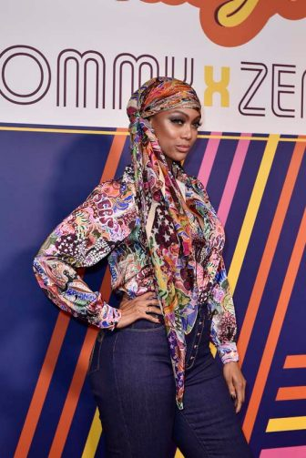 PARIS, FRANCE - MARCH 02: Tyra Banks attends the Tommy Hilfiger TOMMYNOW Spring 2019  : TommyXZendaya Premieres at Theatre des Champs-Elysees on March 02, 2019 in Paris, France. (Photo by Kristy Sparow/Getty Images For Tommy Hilfiger )
