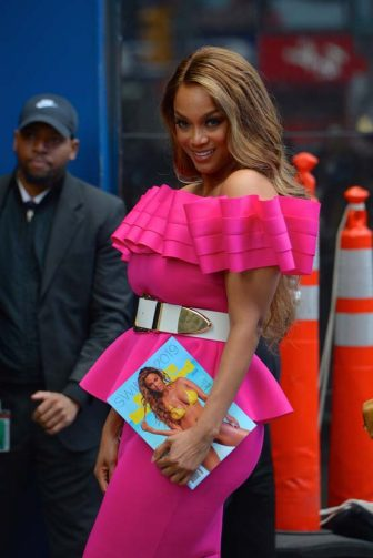 NEW YORK, NY - MAY 08:  Tyra Banks is seen out and about in Manhattan on  May 8, 2019 in New York City.  (Photo by Robert Kamau/GC Images)