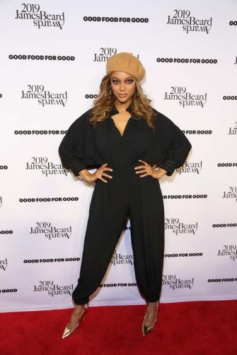 NEW YORK, NEW YORK - APRIL 26: Tyra Banks attends the 2019 James Beard Foundation Media Awards Gala at Pier Sixty at Chelsea Piers on April 26, 2019 in New York City. (Photo by Manny Carabel/Getty Images)