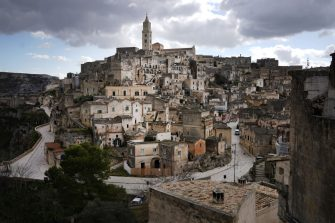 MATERA, ITALY - FEBRUARY 12: A general scenes of the 'Sassi di Matera'. Matera is a city in Southern Italy which is the 2019 European Capital of Culture on February 12, 2019 in Matera, Italy. (Photo by Vittorio Zunino Celotto/Getty Images)