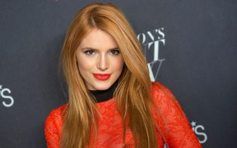 NEW YORK, NY - SEPTEMBER 17:  Actress Bella Thorne attends Macy's Presents Fashion's Front Row during Spring 2016 New York Fashion Week at The Theater at Madison Square Garden on September 17, 2015 in New York City.  (Photo by Mike Pont/WireImage)