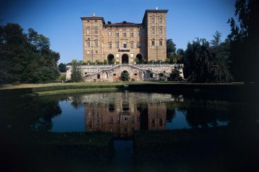 ITALY - CIRCA 2016: The facade onto the garden of Aglie Ducal Castle, residence of the Royal House of Savoy (Unesco World Heritage List, 1997), Canavese, Piedmont, Italy. (Photo by DeAgostini/Getty Images)