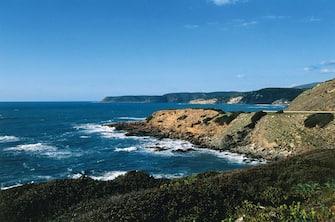 The coastline near Marina di Arbus, Costa Verde, Sardinia, Italy.